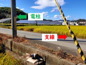 電柱敷地料 支線