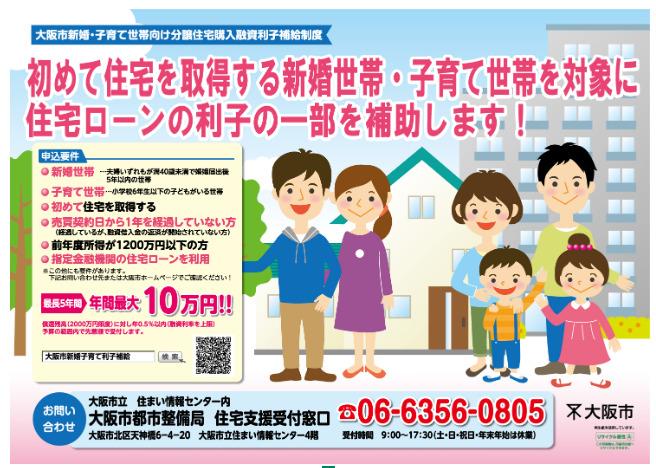 二世帯住宅補助金大阪市