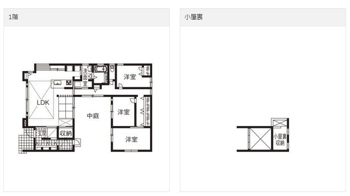 平屋35坪中庭2000万円
