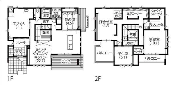 タマホーム モデルハウス 間取り図