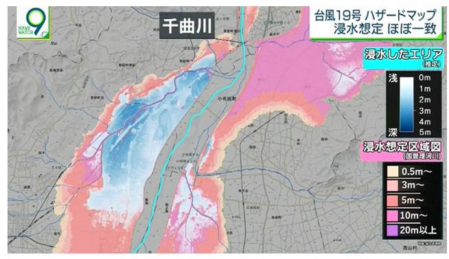 ハザードマップ 台風19号