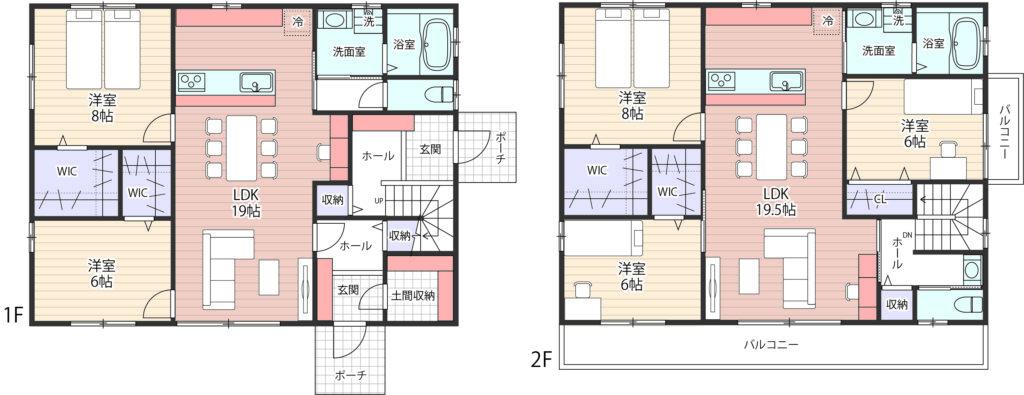 二世帯住宅間取り完全分離