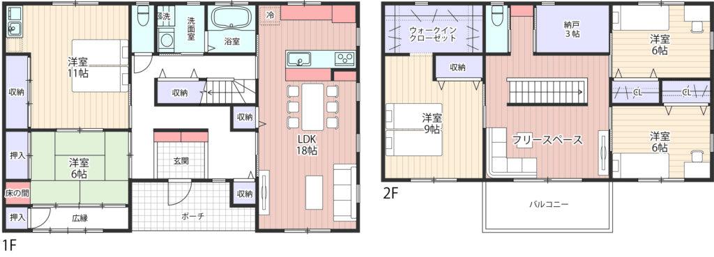 二世帯住宅間取り完全同居